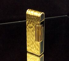 1978 dunhill ROLLAGAS Gold / Black  DOME LID lighter - Serviced & Guaranteed