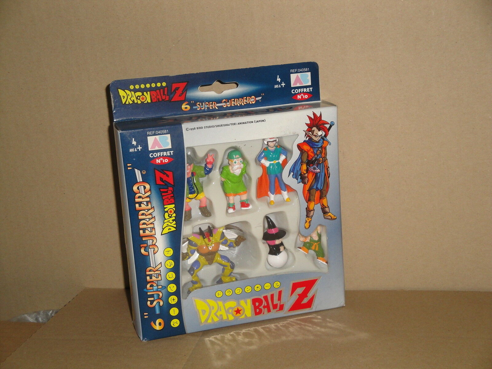 DRAGON BALL Z SUPER GUERERO BY AB TOYS COFFRET   10 WHEN SIX FIGURES NEW IN BOX