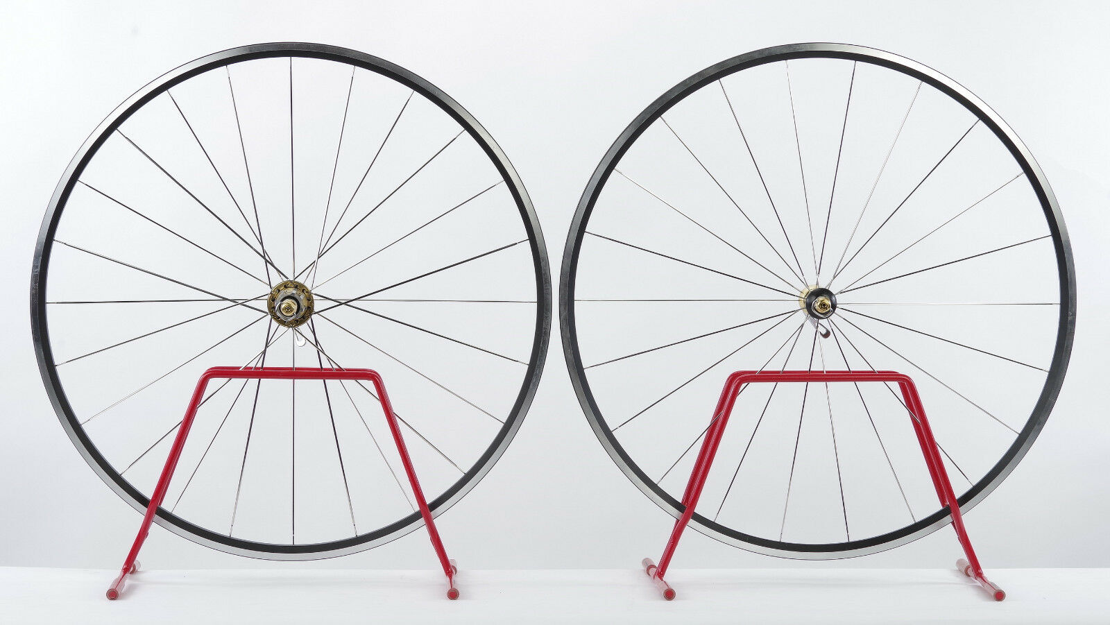 Campagnolo Neutron (front+rear) wheel set w  gold Plated 14K hubs