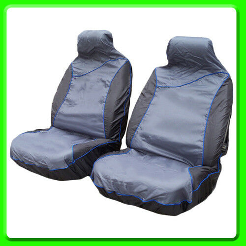 AQS1 Air Bag Compatible Heavy Duty A Pair of Waterproof Front Seat Covers