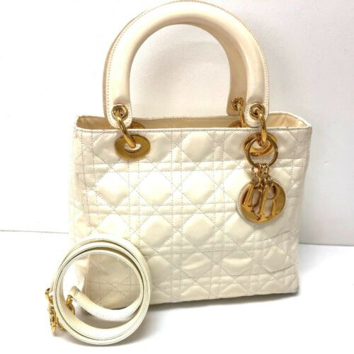 CHRISTIAN DIOR Lady Dior Hand Bag Shoulder Bag