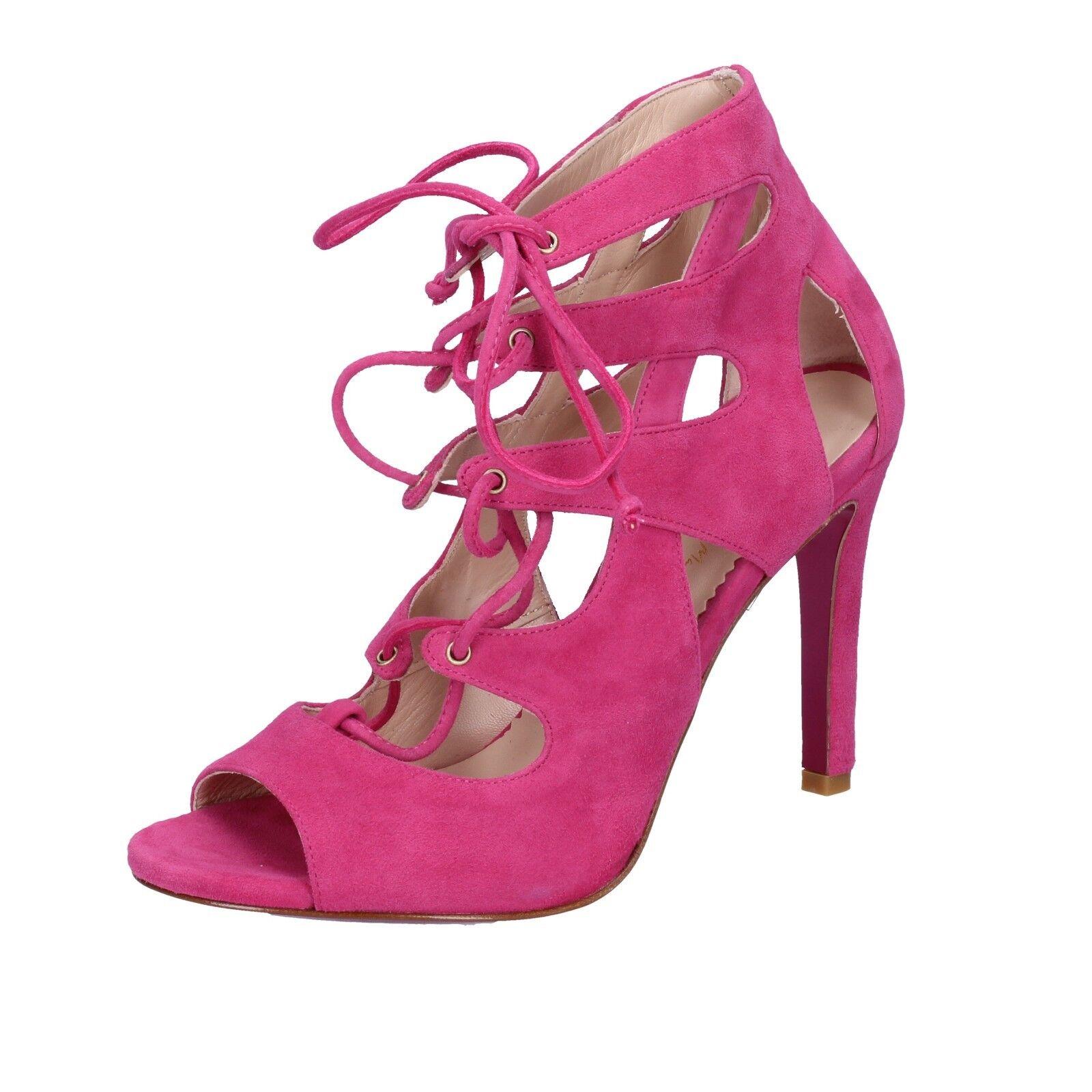 Chaussures Pointure Georgia May Jagger MINELLI 7 (UE 40) Sandales Fucsia Daim BT589-40
