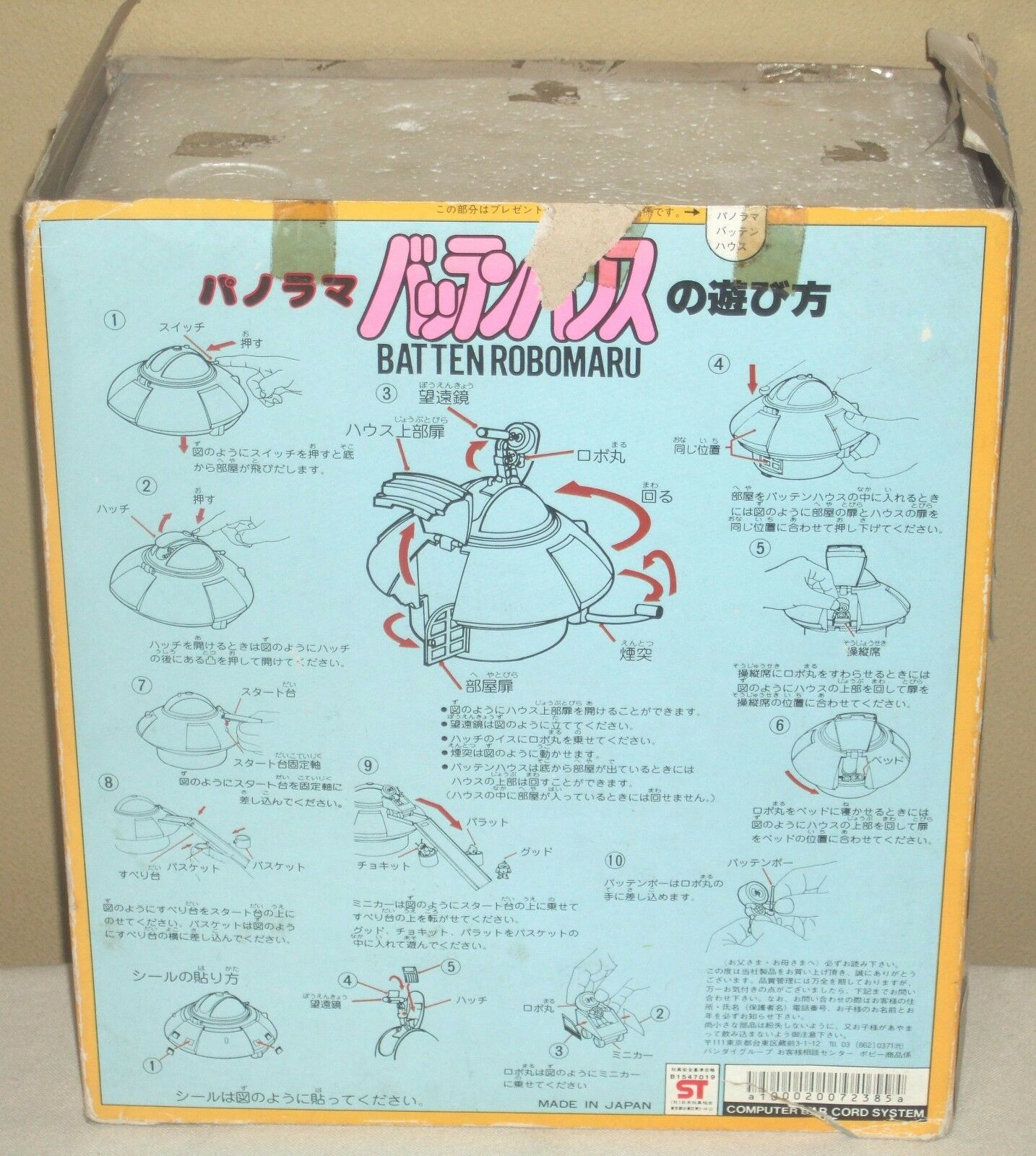 Robot Robomaru Batten House Saucer Figure Dolls 7.7 7.7 7.7 19.5cm Popy 1983 Used Rare 2cffec