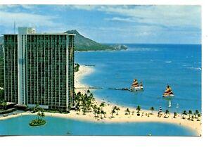 Details About Hilton Hawaiian Village Hotel Waikiki Beach Honolulu Hawaii Vintage Adv Postcard