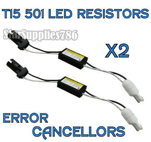 2x T15 CANBUS ERROR FREE RESISTORS REVERSE LIGHT RESISTORS AUDI BMW VW MERCEDES