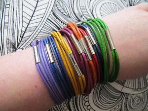 Lederarmband Wickelarmband mit Magnetverschluss *Farbwahl und Längenwahl*
