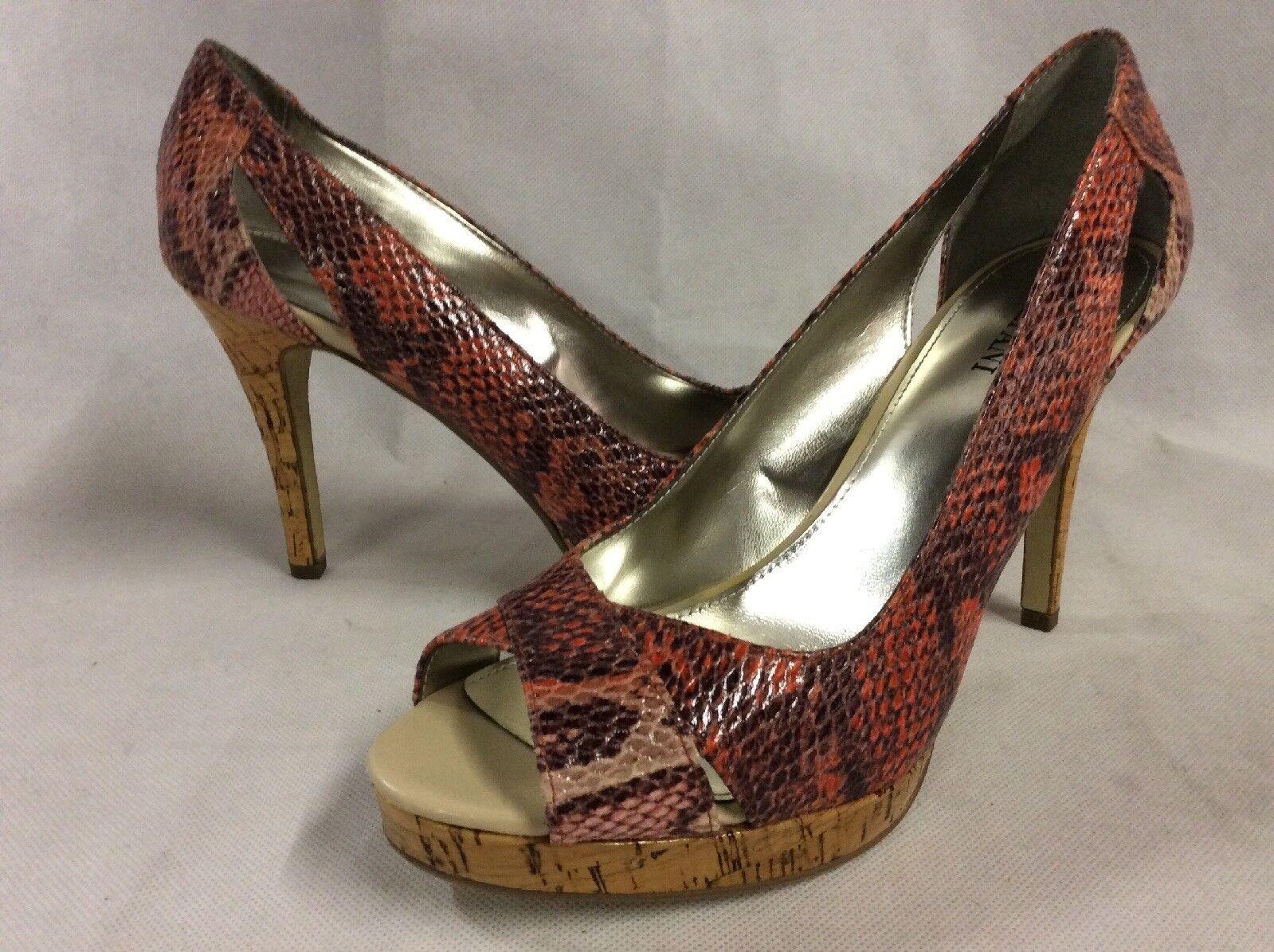 Alfani FAIRFAX Women's Heels Open Toe Shoes Multicolor Bridal Size 8 M...HIGHT 1