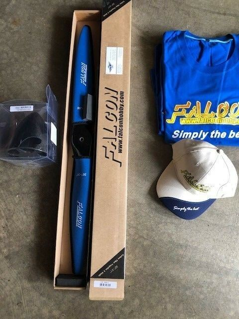 Falcon 30x13 de fibra de carbono Propulsor & 5 Falcon C.F. Spinner Camisa Sombrero Gratis O