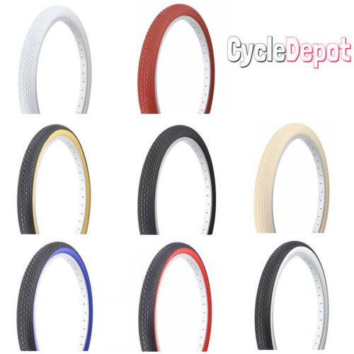 "Duro Bicycle Bike Tire 24"" X 2.125"" Small Brick Duro 8 Colors Schwinn Style Tire by Duro"
