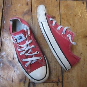 37736c8ca503bb Converse Chuck Taylor All Star Red Canvas Lo Low Top Trainers UK 4 ...