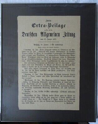 Extra Beilage Nr. 22 Deutschen Allgemeinen Zeitung Vom 27.01.1871 London Berlin Geeignet FüR MäNner Und Frauen Aller Altersgruppen In Allen Jahreszeiten