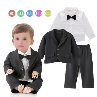 DREAMOWL 5Pcs Grid Boys Suit Wedding Party Blazer Formal Complete Outfit