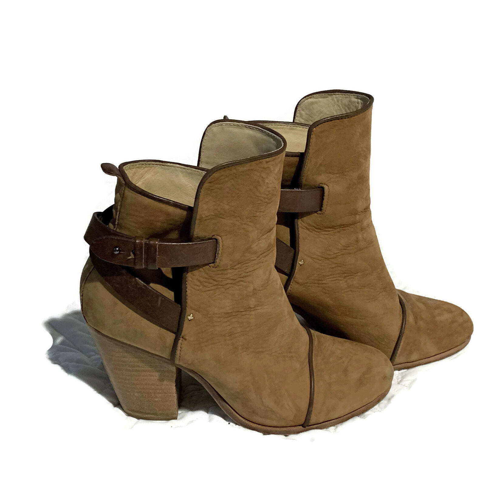 Rag & Bone Brown Suede Leather Ankle Booties Size10 US