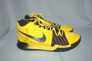 lowest price 7f3d6 2ecd7 Details about NIKE KYRIE 3 MAMBA MENTALITY - BRUCE LEE (AJ1672-700) YELLOW  Size 12