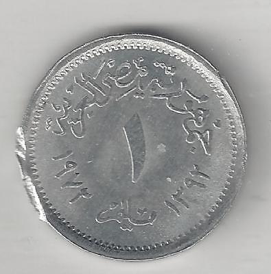 Millieme Aluminum Diligent Egypt Brilliant Uncirculated 1972 Km#a423 Ah1392,