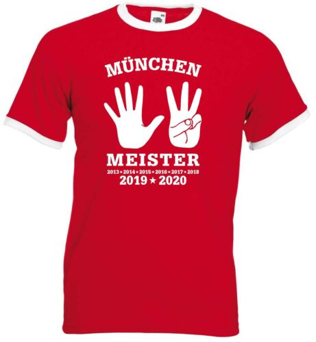 München Herren 8-facher Meister 2020 Ultras Retro-Shirt