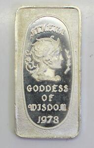 Great-Lakes-Mint-039-s-034-Athena-Goddess-Of-Wisdom-034-999-Fine-Silver-Artbar-1973