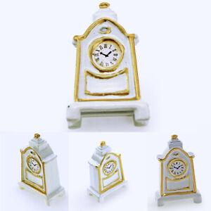 AU-Retro-Wooden-Pendulum-Clock-Figurine-Miniature-DIY-Doll-House-Decor-Novelty