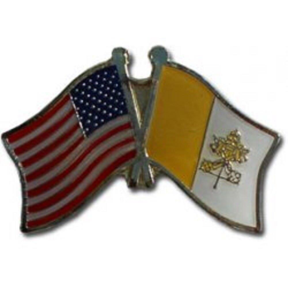 Großhandel 50 Stück Packung USA & Vatikanstadt Freundschaft Flagge Hut Kappe