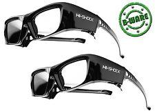 2x Hi-SHOCK® 3D Brille Black Diamond für RF Beamer Epson, Sony, JVC EH-TW8200
