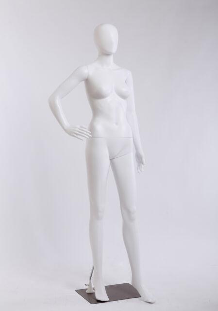 abstrakt NFC-4W weiblich Schaufensterpuppe weiß matt egghead Tonhan