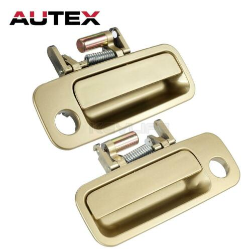 Pair Set Gold Outside Door Handle For 97-01 TOYOTA CAMRY Front Left Right Side