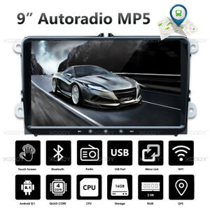9-034-2-DIN-Android-8-1-Autoradio-Bluetooth-GPS-NAVI-For-VW-GOLF-5-6-Polo-Touran