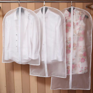 Clear-Suit-Jacket-Dress-Garment-Clothes-Cover-Dust-Protector-Travel-Bag-with-Zip