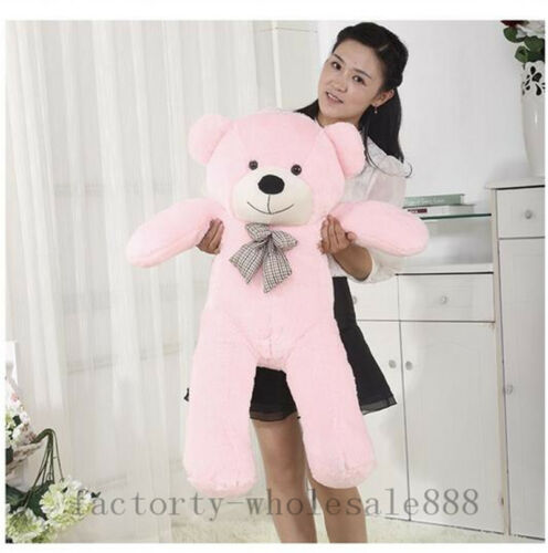 Big Plush Teddy Bear Pink Soft Stuffed Doll Kid Toy Birthday Gift 80cm 31/'/' B126