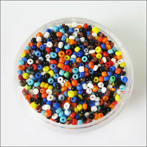 1200-New-Charms-Solid-Color-Tiny-Seed-Round-Glass-Spacer-Beads-Mixed-2mm
