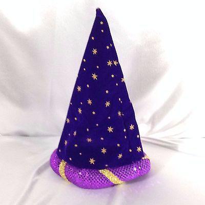 Costume Hat Medievil Renaissance Jester Wizard Hat Sorcerer Merlin Starry Night