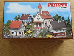 Vollmer-Z-9555-Dorfbausatz-mit-Kirche-OVP