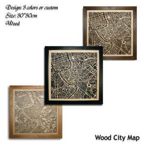 Wood-City-Map-Rome-Italy-Italia-Decor-Picture-Town-Village-Laser-Cut-Wall-Art