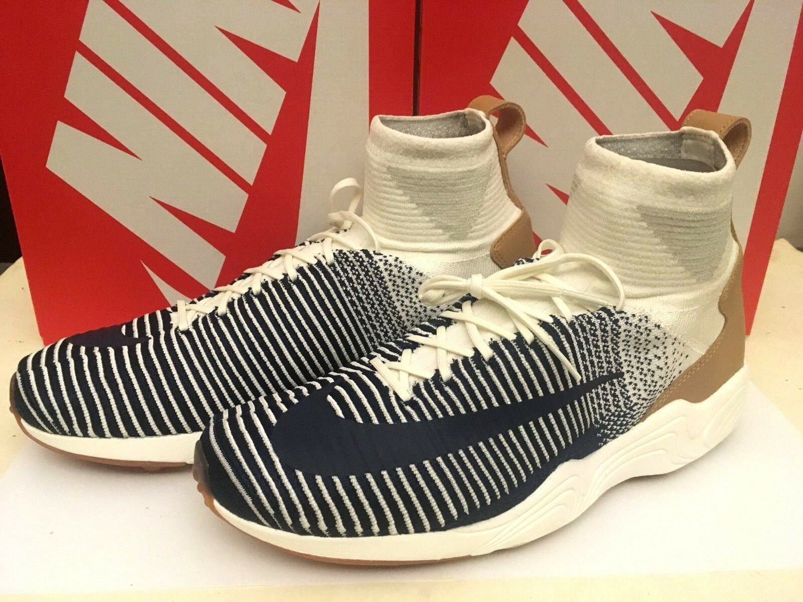 NIKE ZOOM MERCURIAL XI Flyknit Navy Grey - Eur 44 US 10