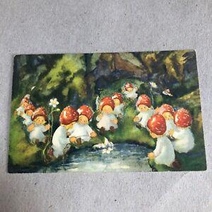 L) Postcard Format Small Children Mushrooms Cowichan