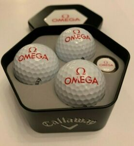 Omega-Professional-watches-Callaway-Golf-Balls-and-marker-in-branded-box