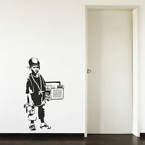 Image Is Loading Banksy Hip Hop Boy Teenager Radio Living Room  Part 65