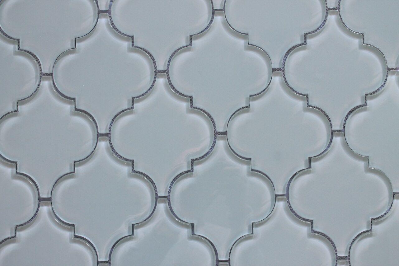 Pacifica Off White Arabesque Glass Mosaic Tiles Kitchen Backsplash Tile For Sale Online Ebay
