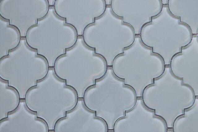 Backyard Gas Fire Pit Ideas, Pacifica Off White Arabesque Glass Mosaic Tiles Kitchen Backsplash Tile For Sale Online