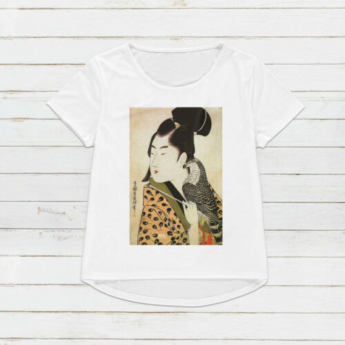 Japanese Ukiyo-e T Shirt Woodblock Art Japan Samurai Womens Mens Printed Tee Top