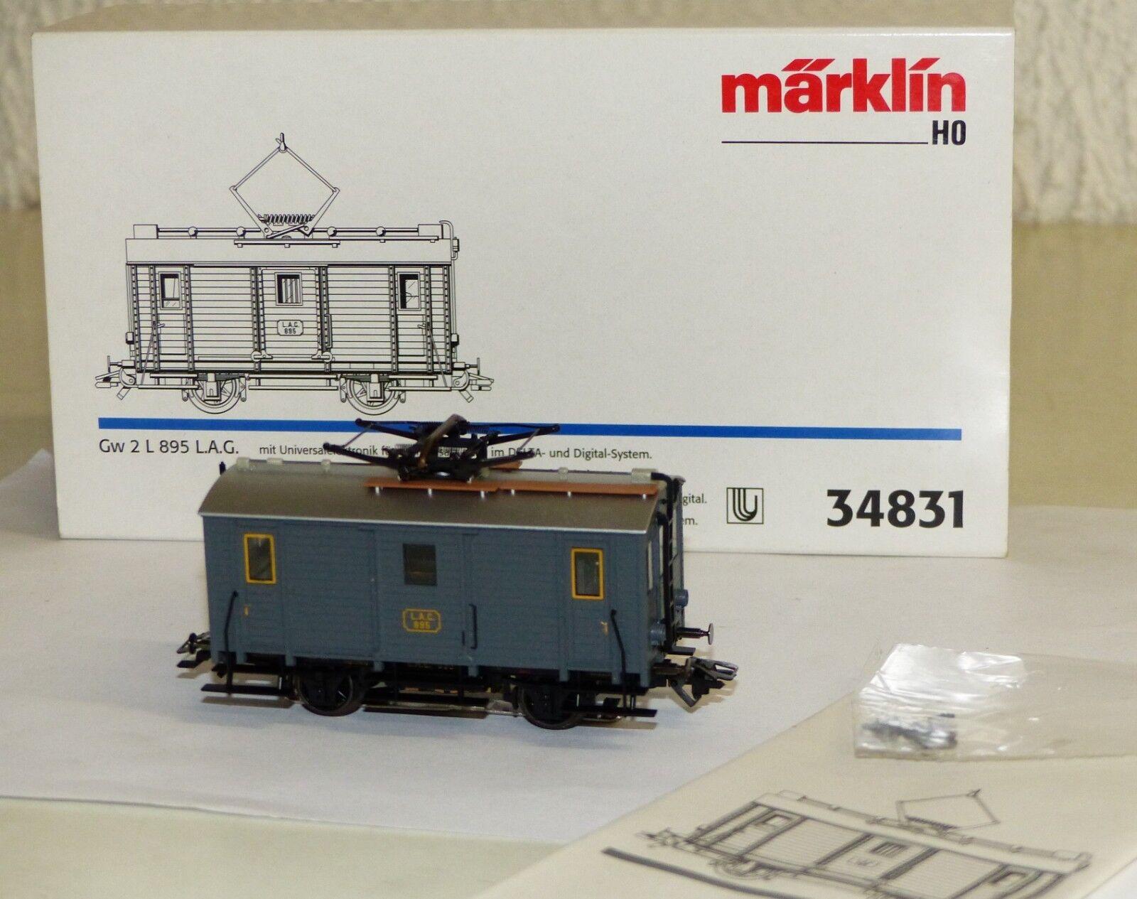 34831 ELETTR. trasporto merci Carro trainante DELTA Digital 895 L.A.G. h0 1:87 Ovp Top