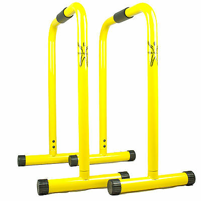 FITNESS RACK CROSSFIT GELBEQUALIZER PARALLETTES POWERRACK DIPSTATION DHL