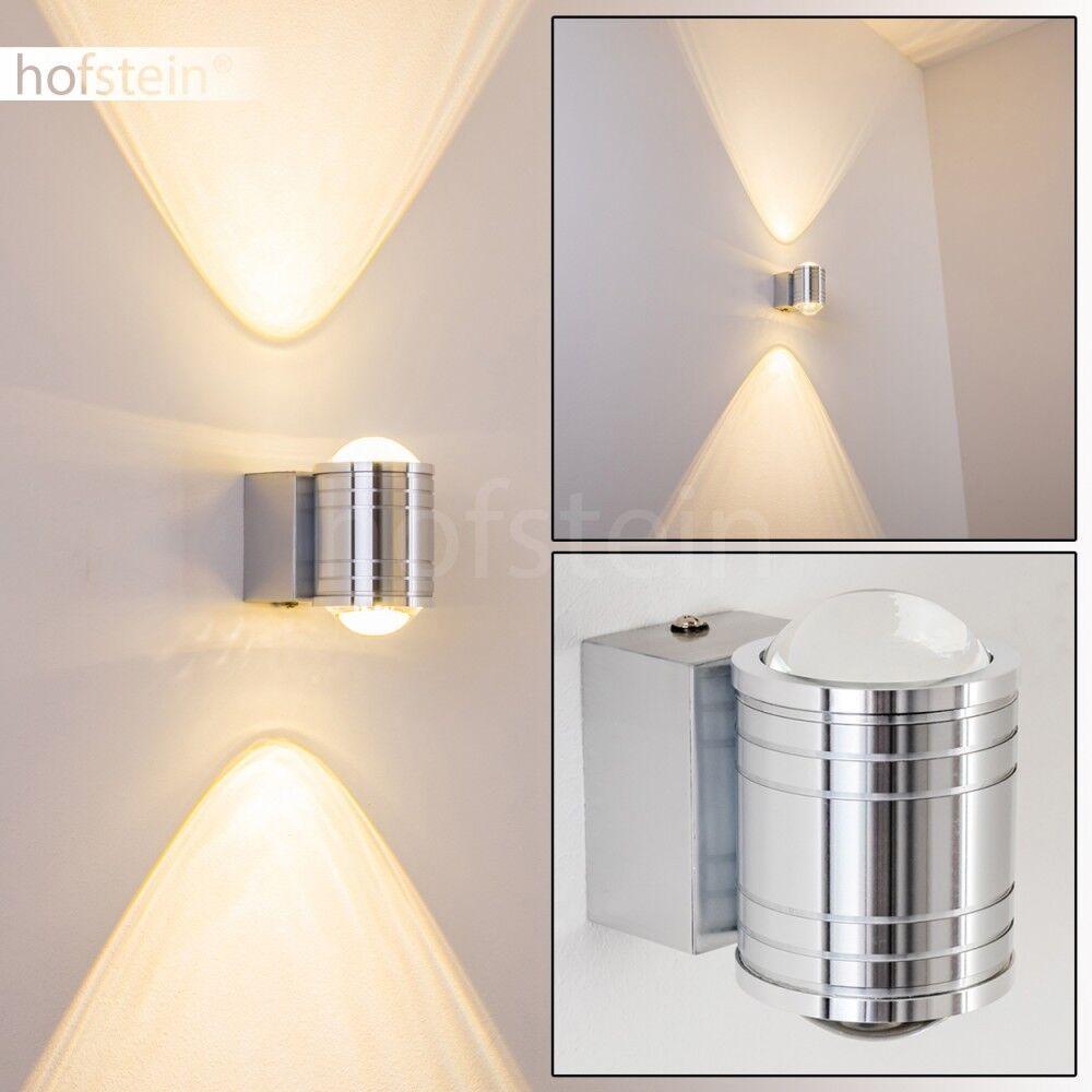 Silberne LED Außen Wand Leuchte Lampe Strahler Garten Einfahrt Terrasse IP44