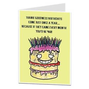 Image Is Loading Funny 80th Birthday Card For Men Amp Women
