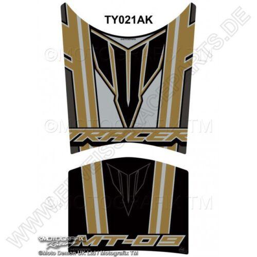 MOTOGRAFIX YAMAHA mt-09 Tracer BLACK 3d GEL Tank Pad protector protezione per il serbatoio ty021ak