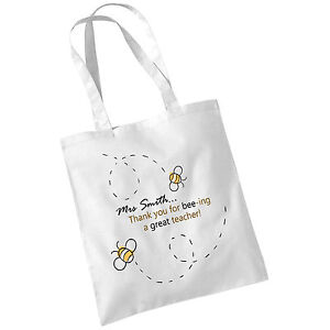Personalised-Tote-Bag-Teachers-Day-Graduation-Thank-You-Bee-Shopping-Cotton