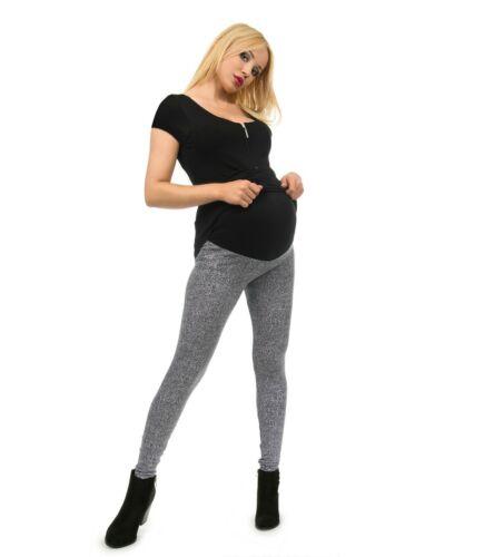 Circonstance Pantalon Leggings Long Ventre Peigné Coton Motif 2-Fein-chiné