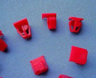 5x Zierleistenklammern Clip Klip Zierleisten halter rot für Renault Clio 435