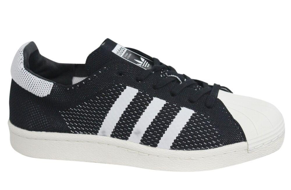 Adidas Originaux Superstar Pk à Lacets Textile Noir Baskets Hommes BB0191 D90