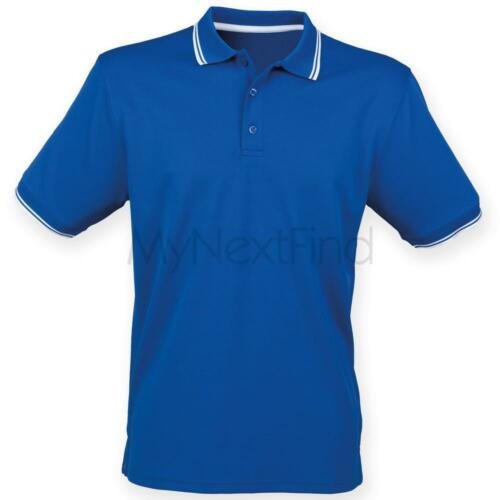 Henbury Double Tipped Coolplus Polo Shirt